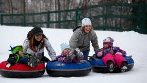 Snowtubing at Loon Mountain, Western White Mountains