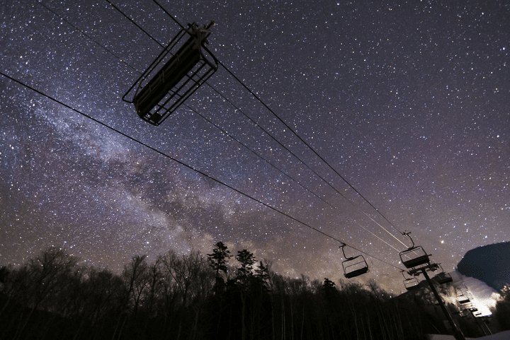 ski lift night sky