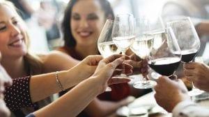 toasting wine