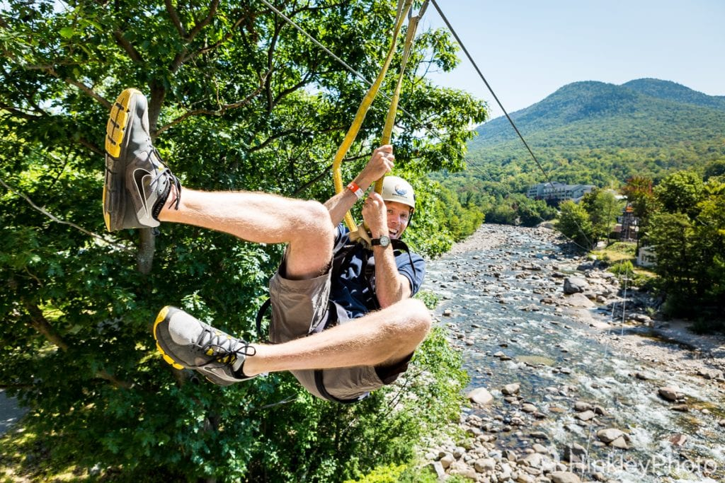 ziplining in summer