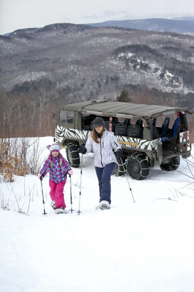 snowshoeing and off-roading