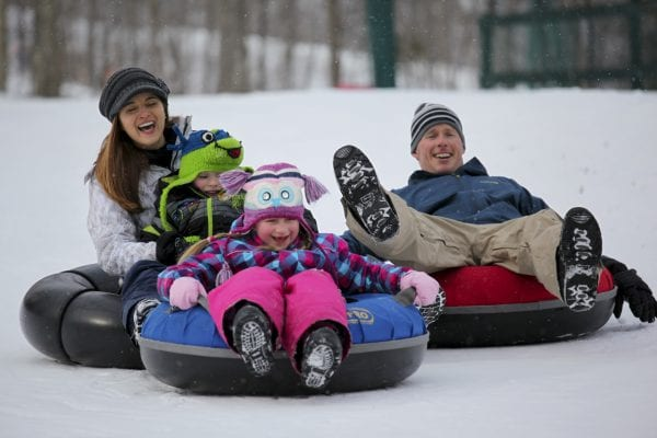 white mountain snow tubing